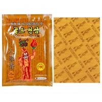 Пластыри против боли в спине Gold insam женьшеневые 25 шт в упаковке