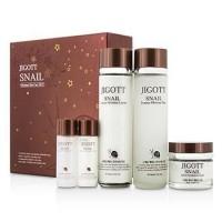 Jigott Facial Skin care Snail Essence Moisture 5Set  -Набор с муцином улитки 410ml