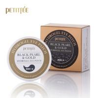 Petitfee Black Pearl & Gold Eye Patch 60pcs - Патчи под глаза с экстрактом черного жемчуга